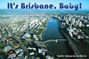 Urlaubsgrußkarte, Australien, Brisbane, Text: It's Brisbane, Baby!